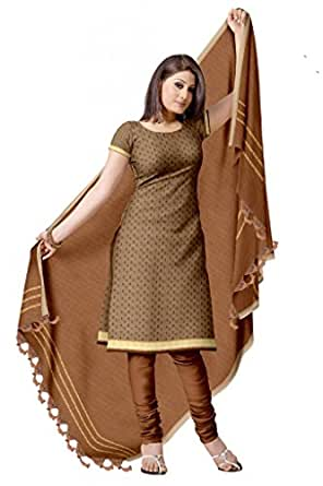 Traditional polka Dots Pure Cotton Dress Material