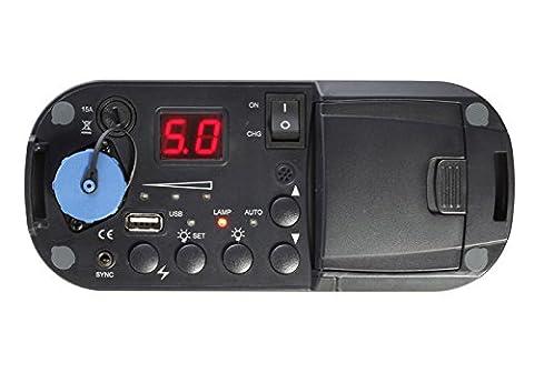 Jinbei Freelander FL-II 500 Kit comprenant un flash portatif 400W et un générateur pour recharger la batterie dans le feu de