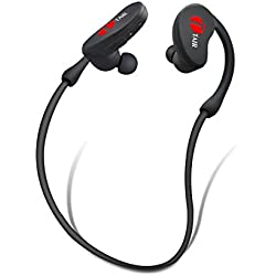 TAIR In Ear Bluetooth Stereo Headphone,Wireless Sports Headset With Microphone Black