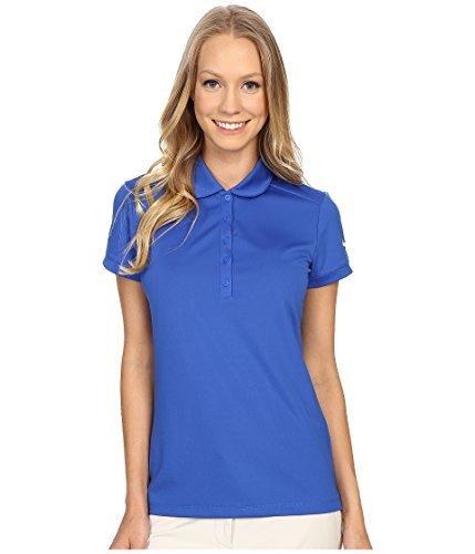 Nike W NK Dry SS Polo für Golf für Damen, Blau (Game Royal/White), L