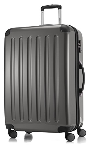 HAUPTSTADTKOFFER - Alex - 3er Koffer-Set Trolley-Set Rollkoffer Reisekoffer Erweiterbar, TSA, Doppelrollen, (S, M & L), Titan - 5