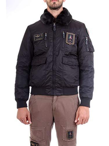 Aeronautica militare 182ab1676ct1811 giacca uomo nero 50
