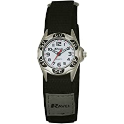 Ravel Children's Black Nylon Strap Watch