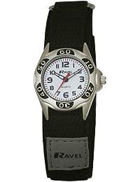 Ravel R1507.29–Jungen-Armbanduhr, Armband aus Stoff Farbe Schwarz