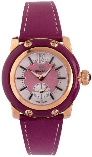 Glam Rock GR40012 - Reloj analógico de Cuarzo para Mujer con Correa de Piel, Color Morado