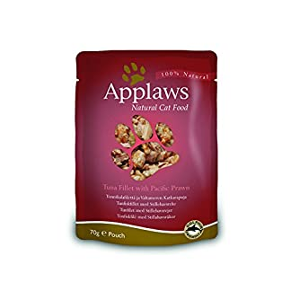 Applaws 100% Natural Wet Cat Food, Tuna Fillet With Pacific Prawn, 70g (Pack of 12) 9