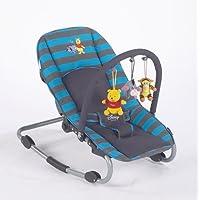 Disney Baby 1445 - Wippe Rocker Lux, Winnie Pooh Poohlicious Blau/Grau