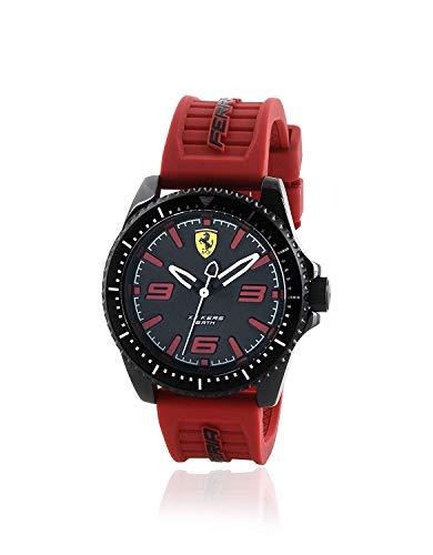 Scuderia Ferrari Hommes Analogique Quartz Montre avec Bracelet en Silicone 870030