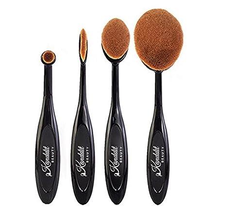 kanddit® 4/Set Profi Oval Zahnbürste Form Augenbrauen Make-up Foundation-Pinsel Puderpinsel Kits