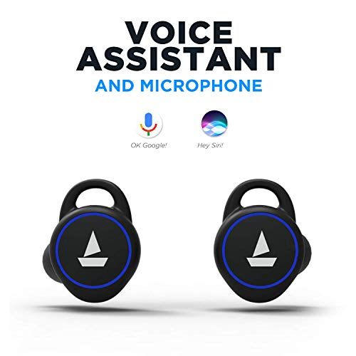 boAt Airdopes 311v2 True Wireless Earbuds (Bluetooth V5.0) with HD Sound and Sleek Design, Integrated Controls with in-Built Mic and 500mAh Charging Case (Energetic Black) Image 3