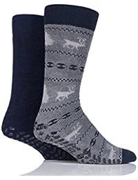 totes Mens Original Slipper Socks (Twin Pack)