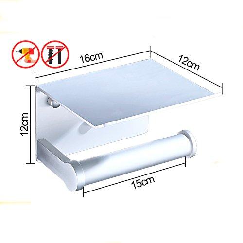 Lufterfrischer Wc-papier-halter (TY&WJ Gewebe Toilettenpapierhalter,Metal Wandhalterung Gewebe-halter Seidenpapier roll Dispenser Handy-hol Multi-use Badezimmer Küche-D)