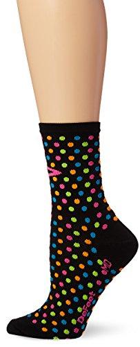 Defeet Aireator Socken, gepunktet, 10,2 cm Medium Schwarz -