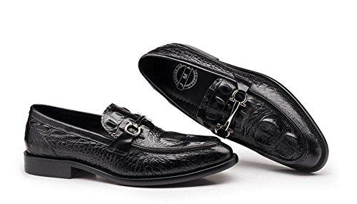 Black Crocodile Schuhe SHIXR Low Schuhe Britische Top Pattern Schuhe Lackleder Casual Red M盲nner Rindsleder Black Business gzzw6q