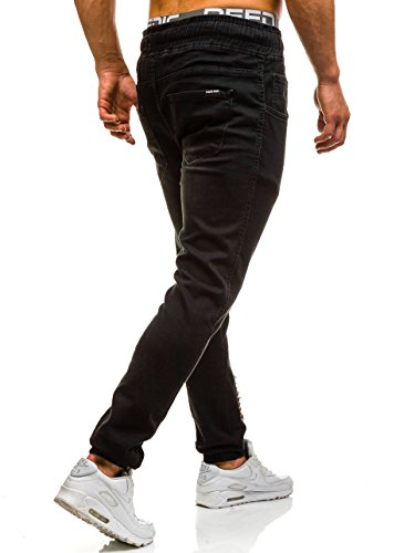 BOLF �?Jeans pantaloni �?Jogger pantaloni �?Baggy �?Esercito �?Casual �?Uomo �?Motivo [6F6] Nero