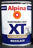 ALPINA Weisslack, XT Kunstharzlack, 250 ml, weiß, hochglänzend
