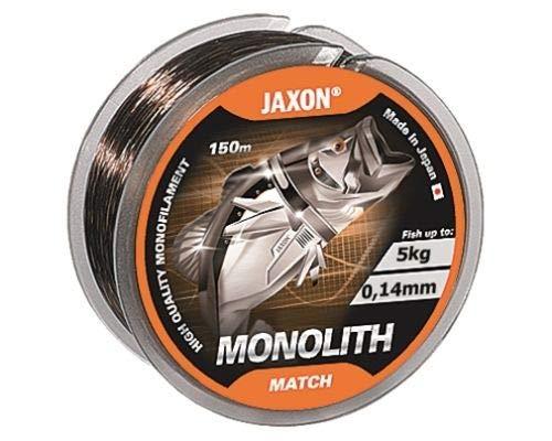 Jaxon Angelschnur Monolith Match Monofile Schnur 150m Spule (0,14mm / 5kg)