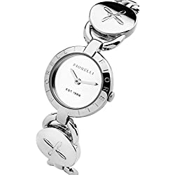 Fiorelli Women's Quartz Watch with Silver Dial Analogue Display and Silver Bracelet FO001SM