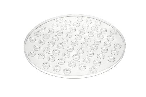 Wenko 2005575100 Spülbeckeneinlage Kristall, Transparent, extra stark, rund, Kunststoff, 31 x 31 cm