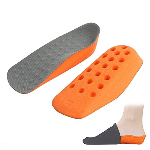 nobrand Höhen-Zunahme-Einlegesohlen Schuhe Pad for Männer Frauen Hälfte Länge Senkfusseinlage Fersensporn Taller Ferse Heben Insert 1.6cm 2.1cm (Color : 1 Left 1 Right, Shoe Size : Size S (1.6CM)) -