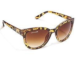 Danny Daze UV Protected Cat Eye Women Sunglasses (D-2507-C3 51MM Brown)