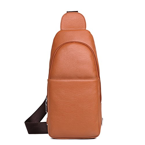Honeymall semplice e pratico Messenger Bag Alpinismo Zaino Zaini Casual pelle,Marrone Marrone