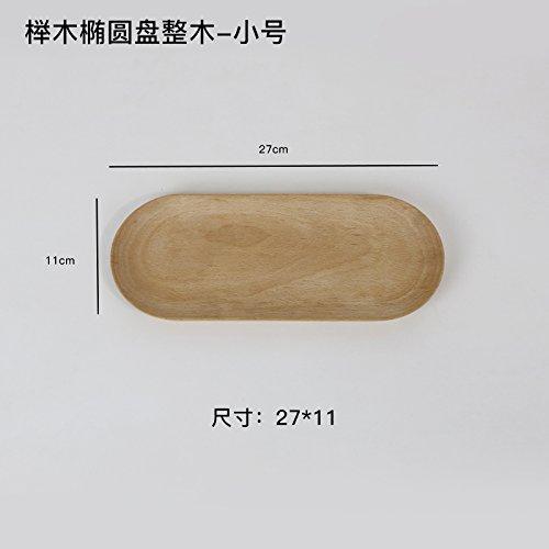 Bezigeorey Buche Platte Nachtisch Obst Tee Oval Tray, Buche Oval Fach Trompete Platte Oval Tray