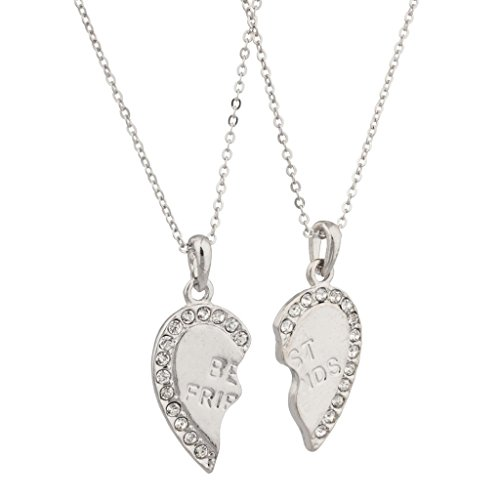 LUX accesorios Best Friends Forever BFF w/Rhinestone Studded collar de San...