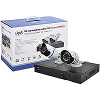 PNI 4585 Kit de Videovigilancia House IPMAX2-NVR 12CH 960P Onvif y 2 IP 720P Incluidos, 12 V