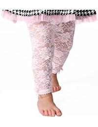 Baby Emporio - Baby Mädchen- Spitzen Leggings-Schleifen-Geschenkbeutel