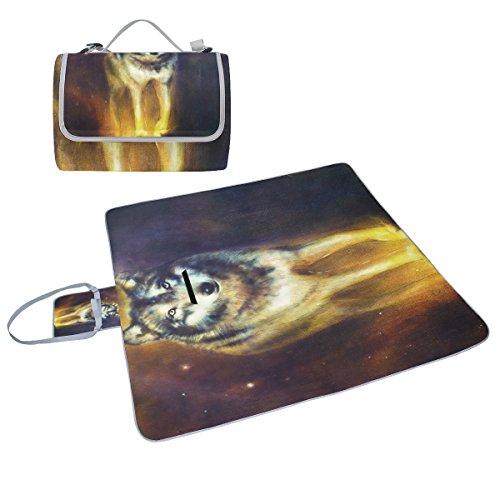 COOSUN Wolf - Manta picnic pintura retratoil, resistente