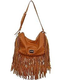 Célébrités Style Gessy rock chic Tassel Fringe sac à main Par LYDC (Brown)