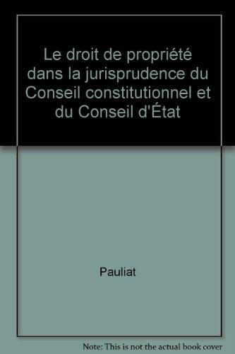 Droit de propriété dans jurisprudences, 1re édition