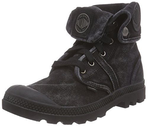 Palladium Damen Pallabrouse Baggy Combat Boots, Schwarz (black/metal 069), 42 EU Combat Boot