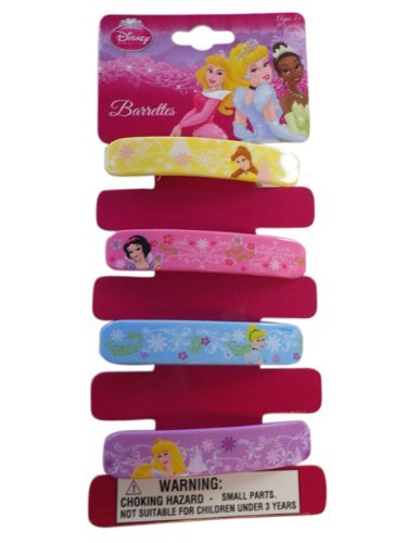 Disney Collection Princess Barrette Set (4pc) - Disney Princess Hair Accessory Pack by HER