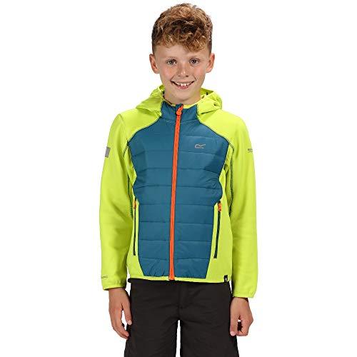 Hybrid-jacke (Regatta Kinder Kielder Iv Extol Stretch-Wasserabweisend, leicht, isoliert, Hybrid-Jacke M Lime Punch/Sea Blue)