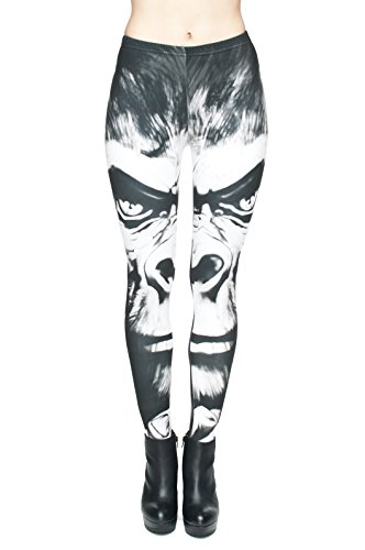 Filles Leggings pour femme Imprimé All Over pas voir à travers très élastique UK 8/10/12 Entraînement Fitness Yoga de Course Gym Danse Pantalon pour femme Multicolore - KING KONG