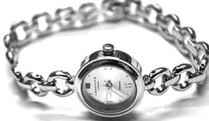 Identity London Genuine Diamond Set Dial Bracelet Watch With Matching Cross necklace Gift Set