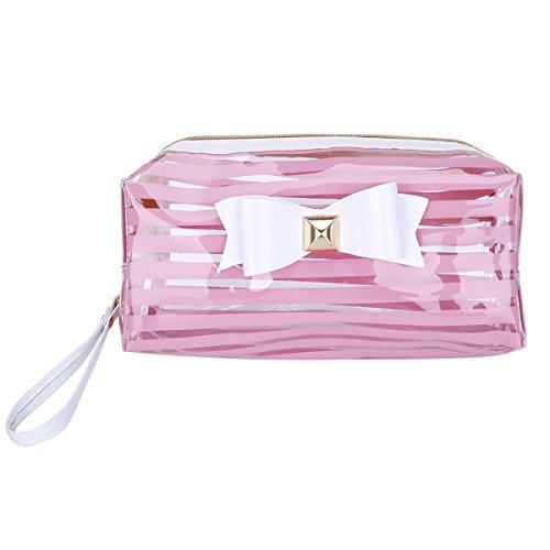 tukis puertas PVC transparente arco Neceser Clutch Bag Gran Capacidad agua Densidad de maquillaje Neceser Viaje Bolsa Rosa
