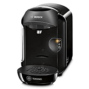 Bosch TAS1252 Tassimo Multi-Getränke-Automat VIVY (kompakte Gerätemaße, Getränkevielfalt, vollautomatische 1-Knopf-Bedienung), real black