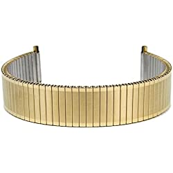 Eulit Flex Ribbon Tie Back Replacement Stainless Steel Band IP yellow Gold 18 mm - 20 mm 76 415181