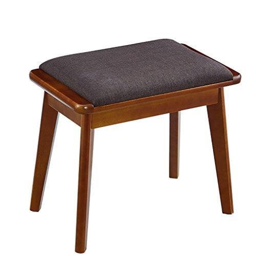 HHCS Amerikanischen Massivholz Dressing Hocker Stühle Moderne Minimalistische Make-Up Eitelkeit Hocker Hocker Ändern Seine Schuhe Und Tuch Hocker Continental (30 * 50 * 43 cm) Hocker & Stühle -