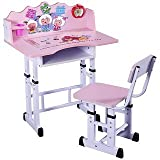 #1: Study Table & Chair Set for Kids PINK Desk for Girls