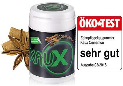 kauX Xylitol Zahnpflege-Kaugummi Cinnamon (60g=40 Stück pro Dose)
