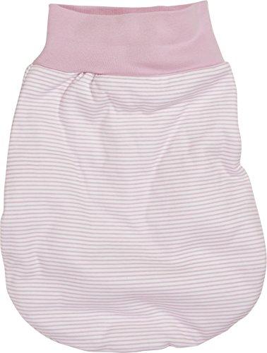 Schnizler Unisex Baby Schlafsack Strampelsack Ringel mit elastischem Umschlagbund, Oeko Tex Standard 100, Gr. One size, Rosa (weiß/rose 586)