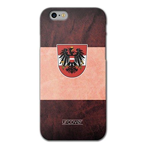 URCOVER Custodia Protettiva Nazionale di Calcio per Apple iPhone 6 Plus / 6s Plus , Back Case Morbida Europei TPU in Albania , Scocca Posteriore Ultra Slim Flessibile Nazione Foot-Ball Austria