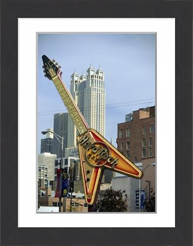 framed-print-of-hard-rock-cafe-huge-guitar-sign