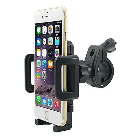 MTRONX Fahrrad Handy Halterung Universal 360° Fahrradhalterung Lenker Bike Bicycle Halter für Apple iPhone 6/6 plus/ 5s/4s, Samsung Galaxy S6/S6 edge/S5/S4, Smartphone(Schwarz)