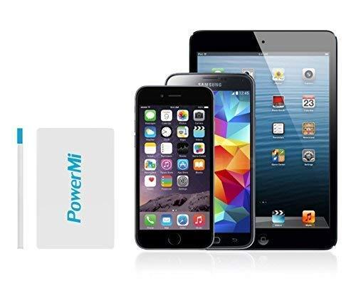 PowerMi Batería Externa Móvil tamaño Tarjeta de crédito – Compatible con Samsung Galaxy, iPhone – Cargador Externo…