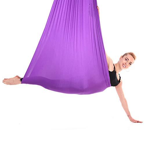 Altalena Amaca per Yoga Aerea, Durevole Amaca Elastica Multifunzionale per Yoga Set Accessorio per Allenamento Fitness per Bambini (2.8m)